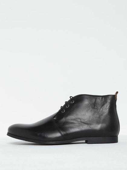 Černé pánské kožené kotníkové polobotky Royal RepubliQ