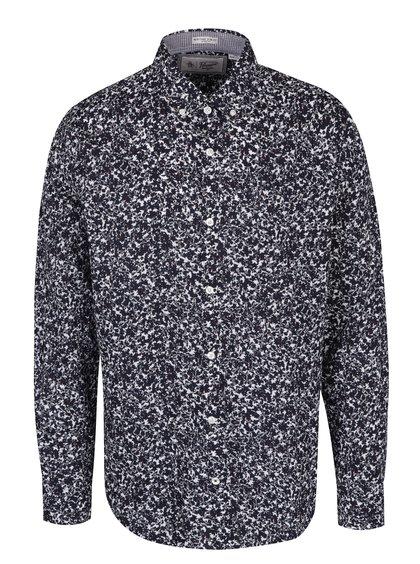 Bílo-modrá květovaná slim fit košile s dlouhým rukávem Original Penguin Floral