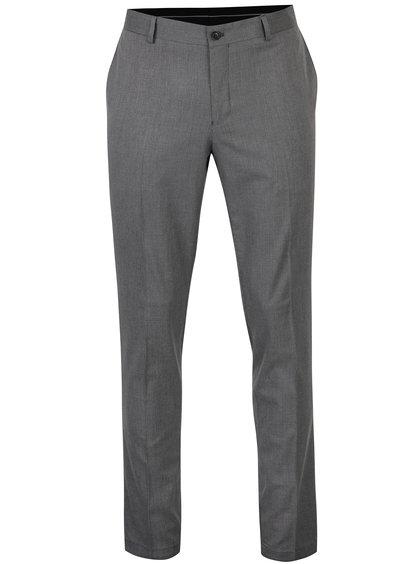 Šedé formální kalhoty Selected Homme Skinny