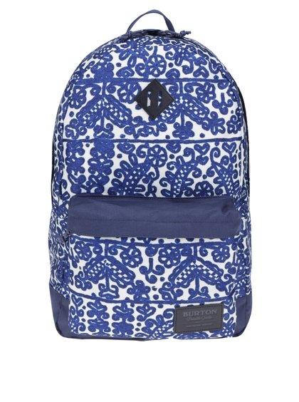 Krémovo-modrý dámský vzorovaný batoh Burton Kettle 20 l