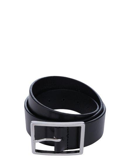 Černý pánský kožený pásek se sponou Royal RepubliQ