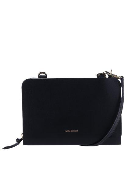 Černá kožená crossbody kabelka/psaníčko Royal RepubliQ