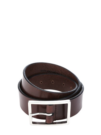 Tmavě hnědý pánský kožený pásek se sponou Royal RepubliQ