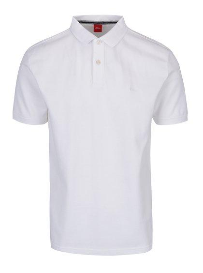 Bílé pánské polo tričko s.Oliver