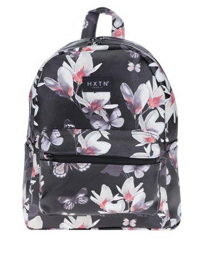 Černý květovaný batoh HXTN supply 12 l