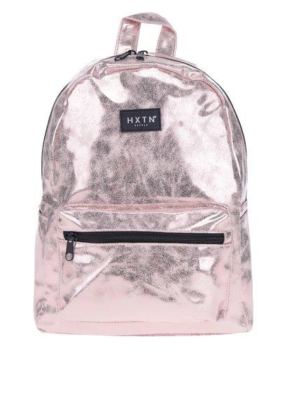 Světle růžový metalický batoh HXTN supply