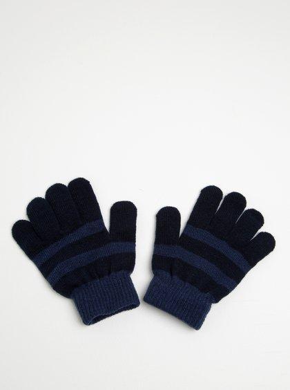Modré klučičí pruhované rukavice Name it Magic