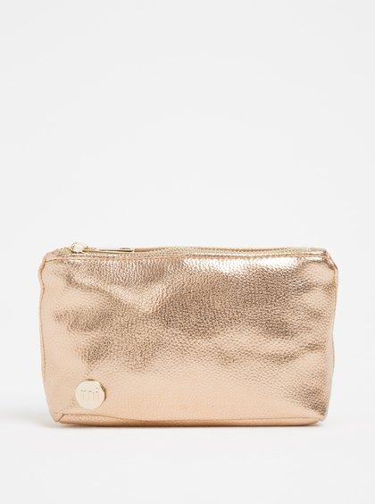 Růžovozlatá dámská kosmetická taštička Mi-Pac Make Up Bag