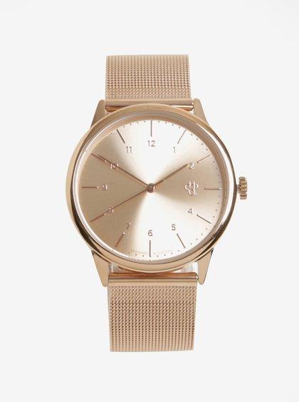 Unisex hodinky v růžovozlaté barvě s nerezovým páskem CHPO Rawiya