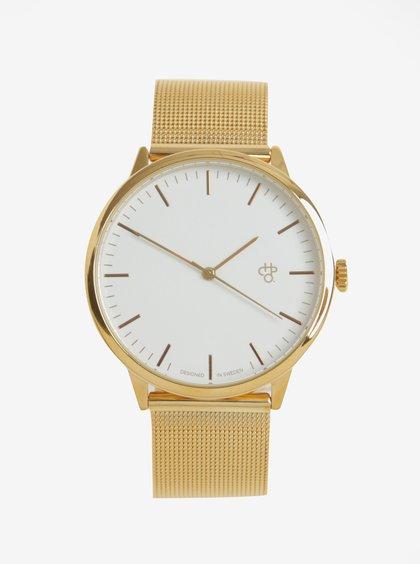 Unisex hodinky ve zlaté barvě s nerezovým páskem CHPO Nando