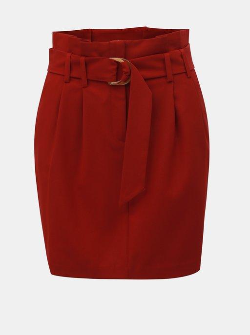 caf533a1f2c9 Čierno-ružová pruhovaná puzdrová sukňa Noisy May Lina