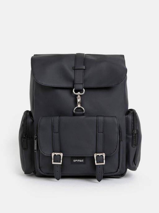 45f6aa293 Svetlosivý koženkový batoh s predným vreckom ZOOT | ZOOT.sk