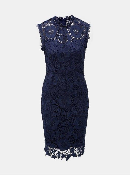 3be3d91f052 Tmavě modré krajkové pouzdrové šaty Dorothy Perkins
