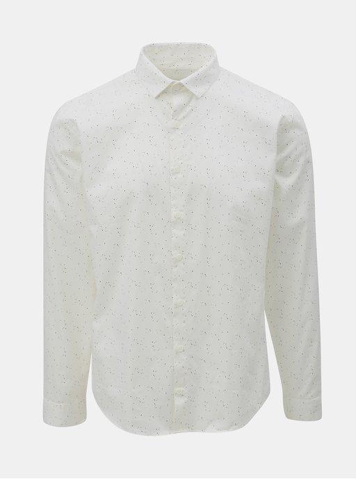 Krémovo-modrá květovaná košile Tailored by Solid Kellington  d13a87ce37