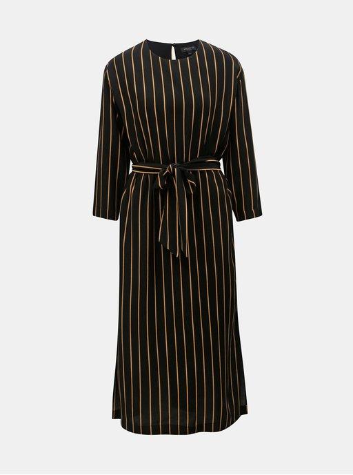 Černé průsvitné košilové šaty s 3 4 rukávem MISSGUIDED  f69f619045
