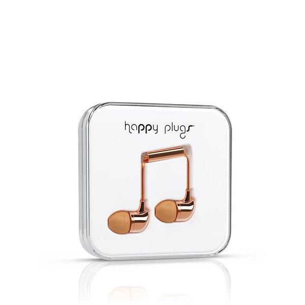 Căști In-Ear Happy Plugs auriu-rose