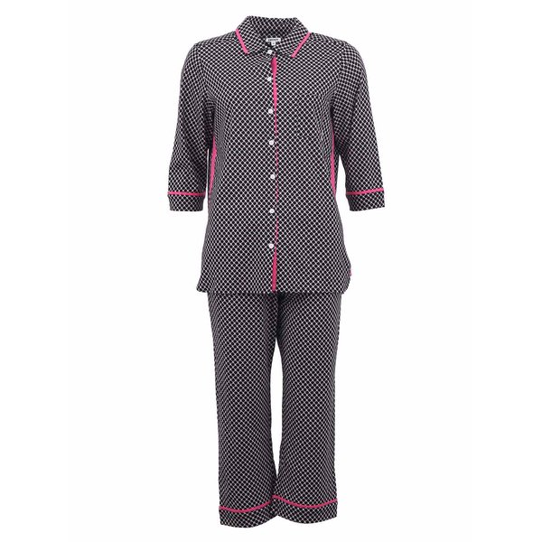 Pijamale DKNY negre cu model