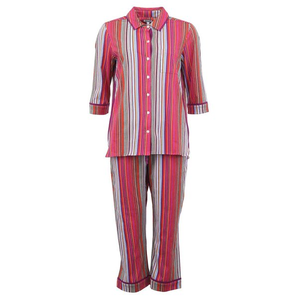 Pijamale cu dungi colorate DKNY