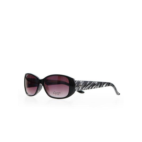Ochelari de soare pentru femei Gionni – negru cu imprimeu zebră