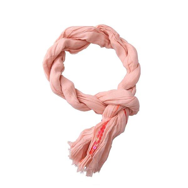 Eșarfă roz cu paiete Passigatti