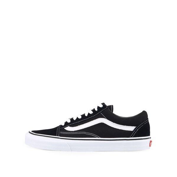Pantofi sport negru&alb cu detalii din piele intoarsa VANS Old Skool