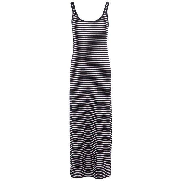 Rochie lungă cu dungi negre și albe VERO MODA Nanna de la VERO MODA in categoria rochii de vară și de plajă