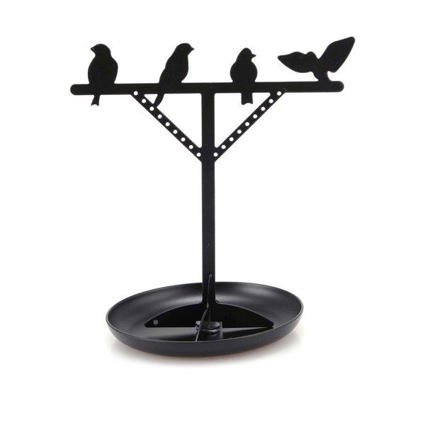 Suport de bijuterii negru Kikkerland Bird de la Kikkerland in categoria CASĂ ȘI DESIGN
