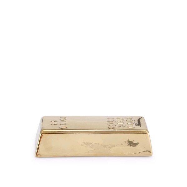 Pușculiță aurie în formă de lingou de aur Coin Kikkerland