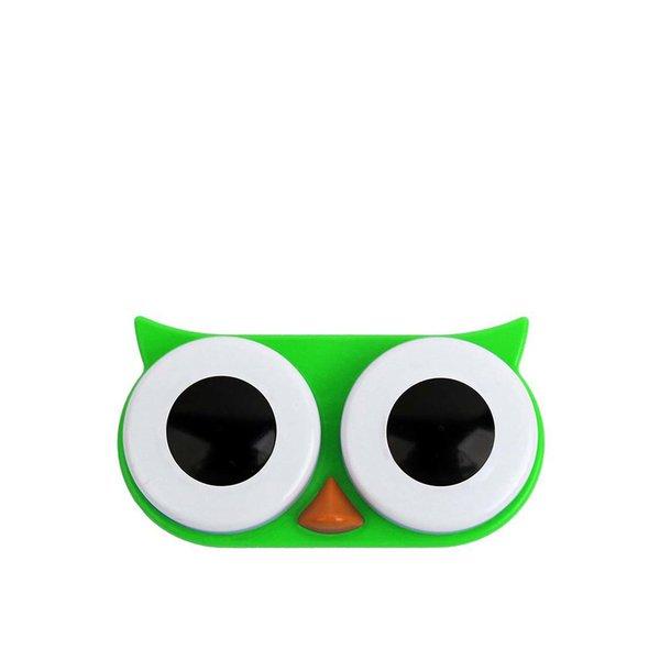 Cutie pentru lentile de contact bufnita verde - KIKKERLAND