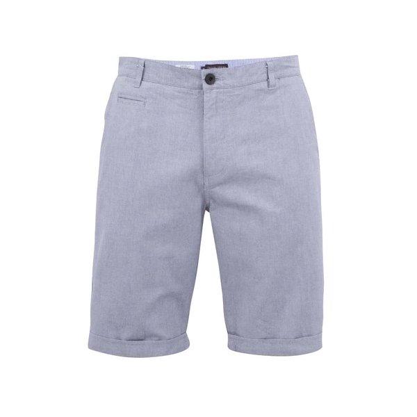 Pantaloni scurți albastru-gri Casual Friday by Blend de la Casual Friday by Blend in categoria Blugi, pantaloni, pantaloni scurți