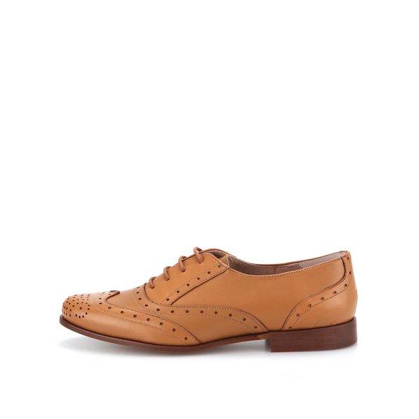 Pantofi din piele maro OJJU de la OJJU in categoria pantofi și mocasini