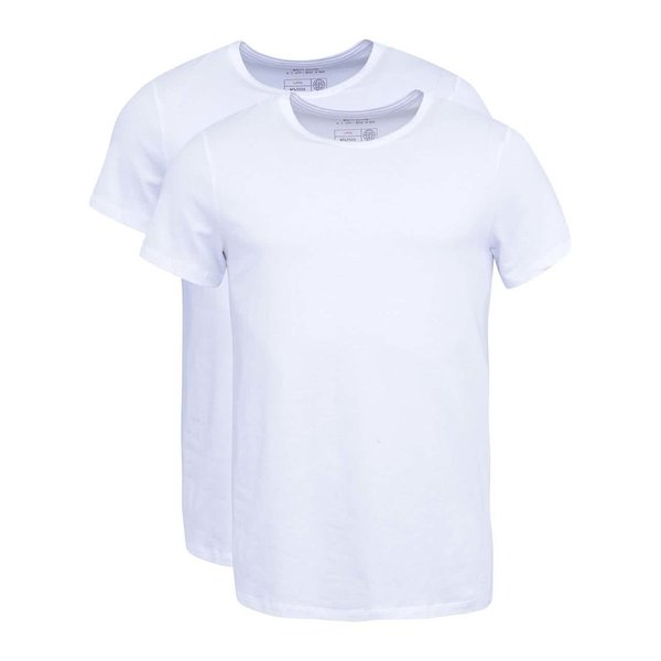 Set de 2 tricouri basic albe slim fit Blend