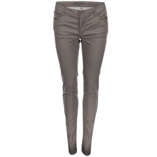 Jeanși skinny ONLY Minna, gri-maro