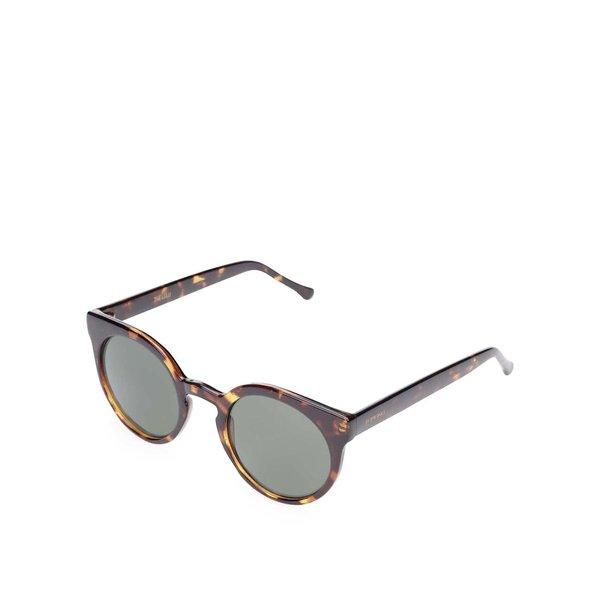 Ochelari de soare maro cu model pentru femei Komono Lulu