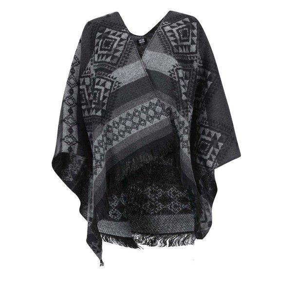 Poncho negru&gri cu model – VERO MODA Rilla
