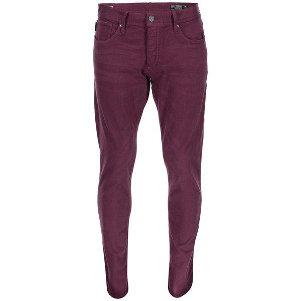 Pantaloni slim fit bej Jack & Jones Glenn – Vișiniu de la Jack & Jones in categoria Blugi, pantaloni, pantaloni scurți