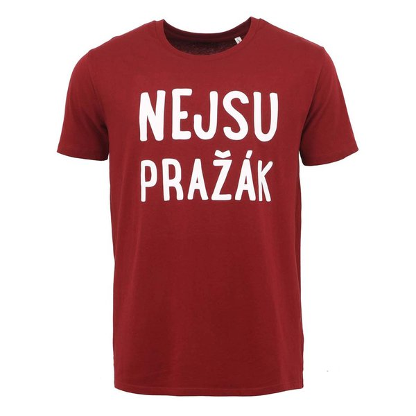"Tricou barbatesc visiniu ZOOT Original ""I'm not from Prague"""