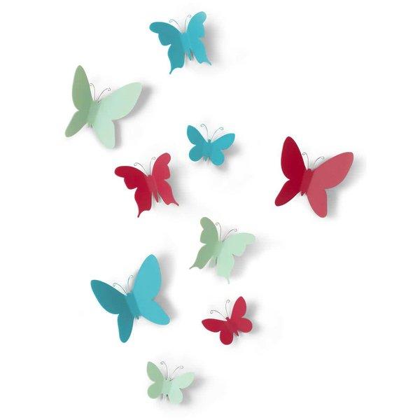 Set cu 9 decorațiuni Umbra Mariposa pentru perete de la Umbra in categoria Pentru dormitor și camera de zi