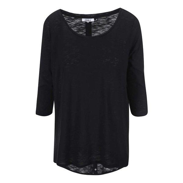 Bluza neagra cu maneci 3/4 si capse la spate ONLY Casa