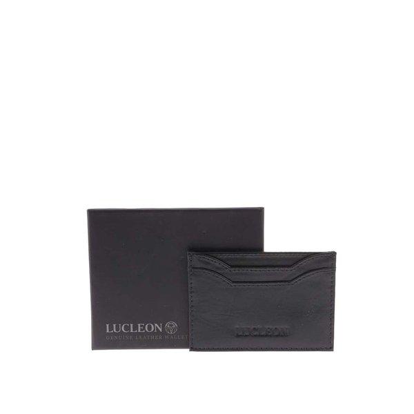 Suport din piele pentru cărți de vizită Lucleon Bruce – negru de la Lucleon in categoria Rucsacuri, genți, portofele