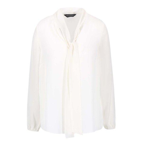 Bluză Dorothy Perkins crem cu fundă de la Dorothy Perkins in categoria Topuri, tricouri, body-uri