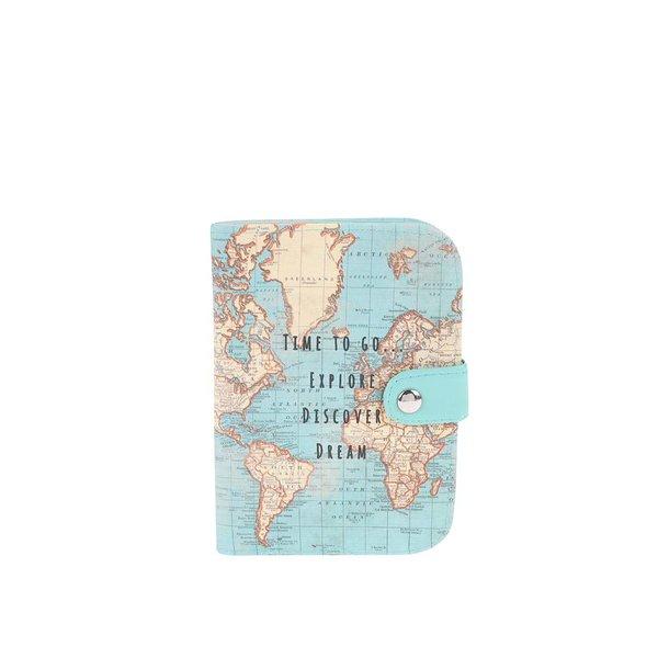 Trusă de călătorie cu hartă Sass & Belle - albastru deschis