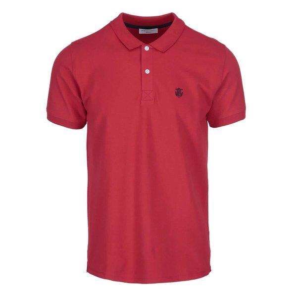 Tricou polo Selected Homme Haro – roșu de la Selected Homme in categoria tricouri polo