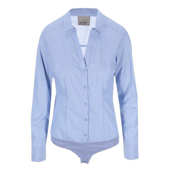Cămașă body albastru deschis VERO MODA Lady cu mâneci lungi de la VERO MODA in categoria Topuri, tricouri, body-uri
