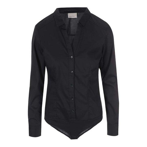 Cămașă body neagră VERO MODA Lady cu mâneci lungi de la VERO MODA in categoria Topuri, tricouri, body-uri