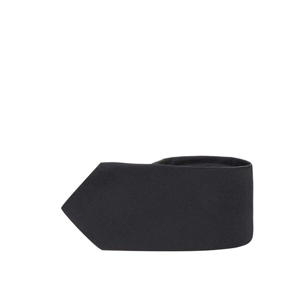 Cravata neagra din matase - Selected Homme Plain