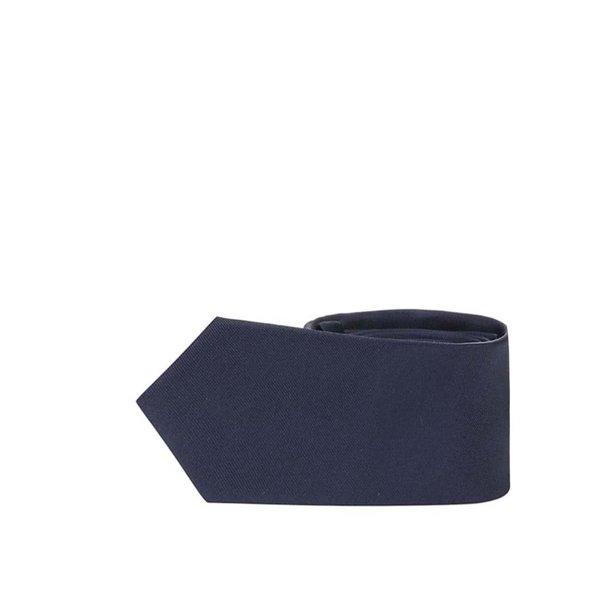 Cravată bleumarin Selected Homme Plain din mătase de la Selected Homme in categoria Accesorii