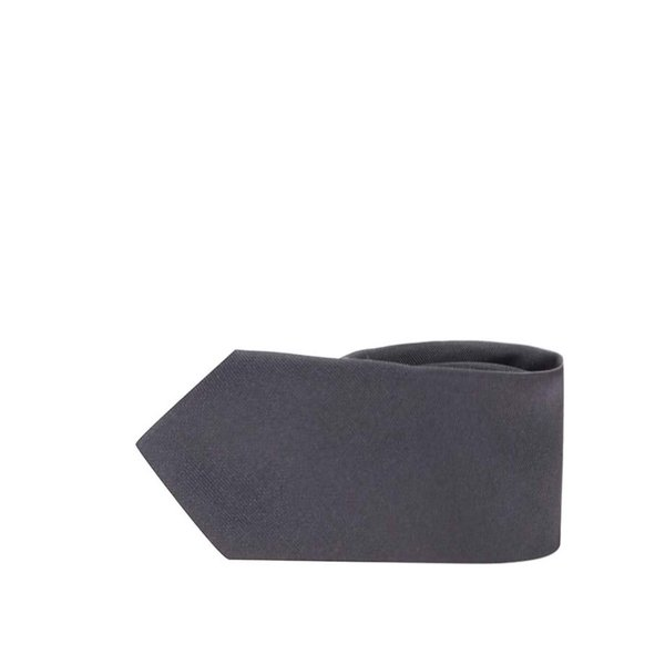 Cravata gri inchis din matase - Selected Homme Plain