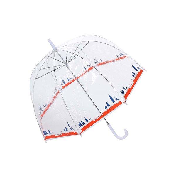 Umbrela transparenta cu print - New Yorku Lindy Lou Tricolor
