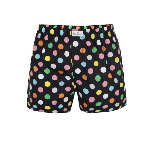 Boxeri negri cu buline mari Happy Socks Big Dots de la Happy Socks in categoria Lenjerie intimă, pijamale, șorturi de baie